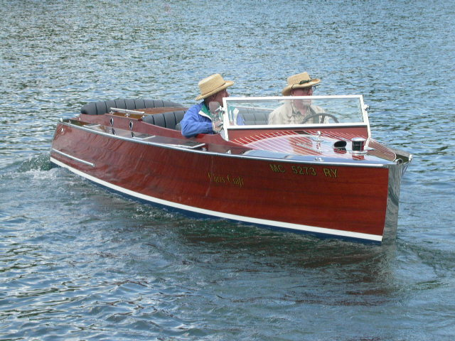 Mr. Jerry and John Mason of Gull Lake, Michigan 1931 22' Chris-Craft Triple ...