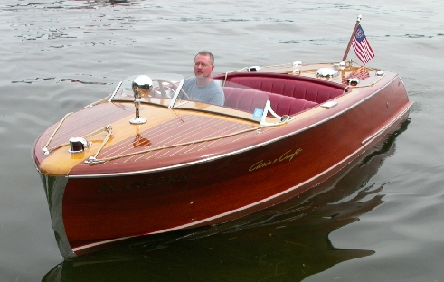 1956 Chris-Craft 18' Riviera owned by David and Jean Hagens of Hamlin Lake, ...