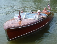 "... Tennessee and his 1956 Chris-Craft 21' Capri ""Striking Distance"""